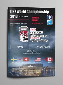ALL MATCHDAY PROGRAMMES IIHF ICEHOCKEY World Championship 2018 Denmark FAN edit.