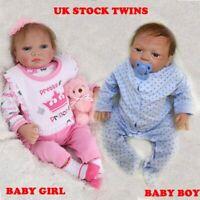 """20"""" Full Body Realistic Reborn Dolls Lifelike Baby Boy Girl Newborn Doll Gifts"""