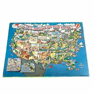 Springbok Fifty Fabulous Fun-Filled States 100 Pieces Puzzle Complete