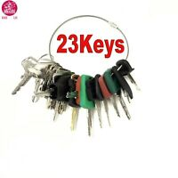 23 Keys Heavy Equipment / Construction Ignition Key Set For CAT Komatsu Volvo JD