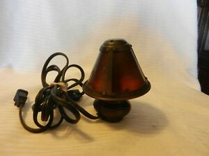 """Small Metal Bottle Style Night Light With Shade 5"""" Tall Corded With On/Off Switc"""