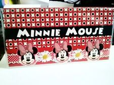 Checkbook Cover Minnie Mouse Custom Name Red Black Personalized
