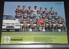 CLIPPING POSTER FOOTBALL 1986-1987 GIRONDINS BORDEAUX PARC LESCURE
