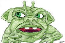 MOTU Poppels Inhumanoids Boglins Blackstar My Pet Monster 80s Original Art Card
