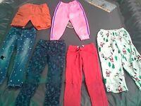 Lot of 6-Pants/Bottoms-Girl's(Toddler)-Size:6-Gap,Carter's,Lee,Adidas,TuffSkins