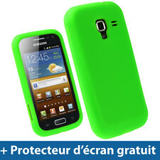 Vert Étui Housse Silicone pour Samsung Galaxy Ace 2 I8160 Android Smartphone
