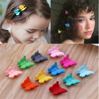 20x/set Mini Baby Hair Claws Multi Colors Hair Clips Butterfly Shape Hair Clamps