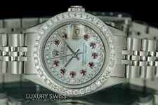 Rolex Lady Datejust 6917 Steel 26mm White MOP Diamond Ruby Dial Diamond Bezel