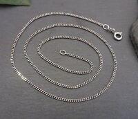 Hübsche 925 Silber Kette Feine Panzerkette Gleiderkette Halskette Modern Top