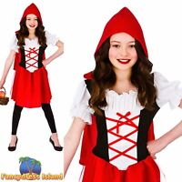 Kids Fairytale Little Red Riding Hood Storybook Child Girls Fancy Dress Costume