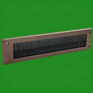 6x Marron PVC Porte Lettre Boite Draught Exclure Brosse Joint, 338 X 78 MM,