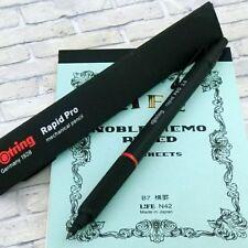 rOtring Rapid Pro 2mm Drop Mechanical Pencil Matal Black Body Holder [NEW] Pen