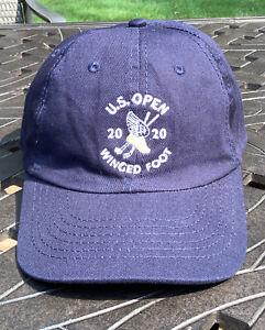 2020 US OPEN Winged Foot Golf Hat Cap USGA Member Adjustable Navy Blue