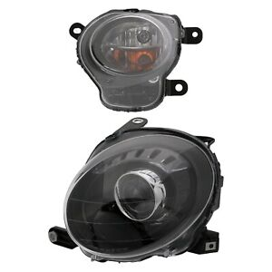 FIAT 500 BLACK FRONT LEFT DRIVER SIDE HEADLIGHT LAMP & DIRECTIONAL TURN SIGNAL