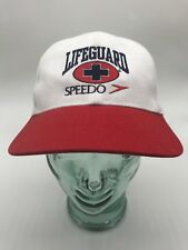 Speedo Lifeguard Hat Cap Snap Back Vintage 90s 24532c5d42b6