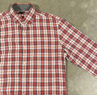 J. Crew Tartan Plaid Long Sleeve Button Shirt Men's Size Small, Red/Green/White