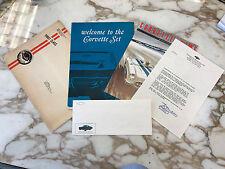 ORIGINAL 1967 COMPLETE CORVETTE OWNERS KIT OWNER BLANK CARD CORVETTE NEWS