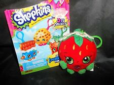 SHOPKINS SOFT PLUSH W/ CLIP** OPENED** BLIND BAG-DATED 2013 STRAWBERRY KISS