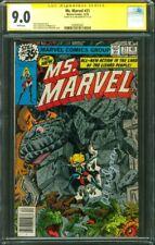 Ms Marvel 21 CGC SS 9.0 Al Milgrom new Costume Cover Avengers 1978
