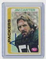 1978 PACKERS Jim Carter signed card Topps #174 AUTO Autographed Green Bay