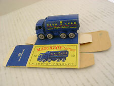 MATCHBOX MOKO LESNEY 10C SUGAR CONTAINER TRUCK FGPW-R/A WITH ORIGINAL BOX