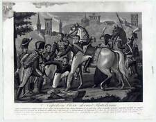 Napoleone-Regensburg-Aquatinta del 1820 Napoleone blesse devant Ratisbonne.