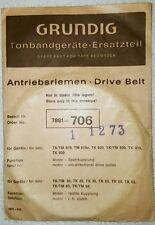 Grundig Antriebsriemen für TK/TM Tonbandgeräte - # 7881-706 - neu & ovp ! 1973