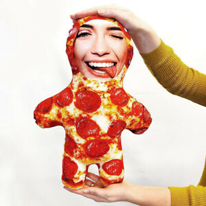 Pizza - MINI ME Doll Custom Novelty Face Pillow - Add Your Photo