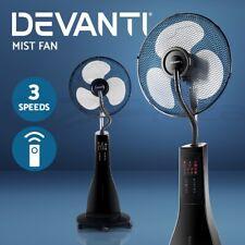 Devanti Mist Fan Portable Misting Fans Remote Pedestal Water Spray Cool 40cm