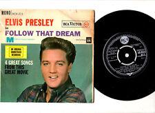 "ELVIS PRESLEY.FOLLOW THAT DREAM.UK ORIG EP & ""FRONT/LAM"" PIC/SL.VG/VG+"