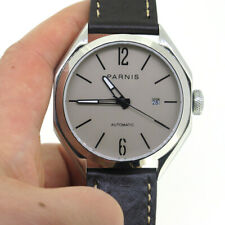 43mm Parnis Gray Dial Miyota Automatic Mechanical Men's Watch Sapphire Crystal