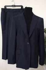 Brooks Brothers Women's Navy Stripe Wool Blend 2 Piece Pant Suit Sz 14/12 EUC