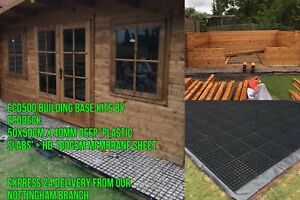 SUMMER HOUSE BASE GRIDS +MEMBRANE - SHED BASE GREENHOUSE BASE FLOOR LOG CABIN sm