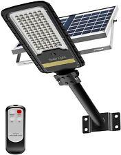 Solar Street Lights Outdoor, LED Security Flood Light 80W 6500K 50000h(LED)