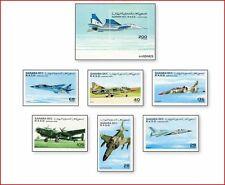 SAH9604 Military aircraft 6 stamps and block MNH SAHARA 1996