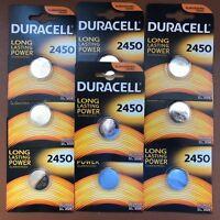 10 X Duracell CR2450 3V Pilas de Botãn Litio Baterêas 2450 DL2450 K2450L Longest