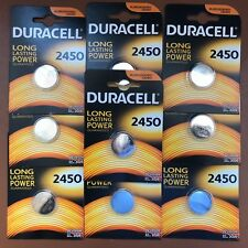 10 x Duracell CR2450 3V Lithium Coin Cell Battery 2450 DL2450 K2450L LONGEST EXP