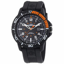 Timex T49940, Men's Expedition Black Resin Watch, Indiglo, Date, T499409J