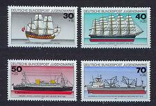 ALEMANIA/RFA WEST GERMANY 1977 MNH SC.B538/B541 Historic ships