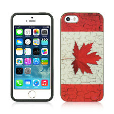 For Apple iPhone 5 5S SE TPU CANDY Gel Flexi Skin Case Phone Cover Canada Flag