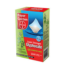 Bayer Super Strength Glyphosate - 6 Sachet Weed Killer -  Very Strong Weedkiller