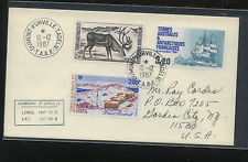 French  Antarctic  128,130,131  on  cover              KEL1005