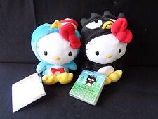 "NWT Hello Kitty as Tuxedo Sam & Batz Maru Plush 6"" Sanrio Jakks Pacific"
