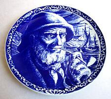 Delft Blue Boch Freres La Louviere Belgium Fisherman Plate