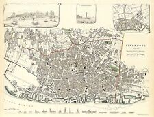 Liverpool, Lancashire in 1836 SDUK town plan