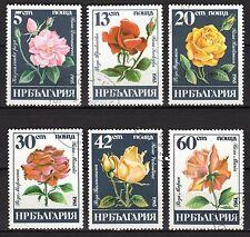 Bulgaria - 1985 Roses - Mi. 3373-78 FU