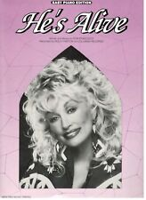 DOLLY PARTON-HE'S ALIVE--SHEET MUSIC-EASY PIANO-1977-RARE-BRAND NEW ON SALE-MINT