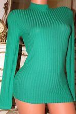 (Ref 18) TU Ladies green turtle neck viscose mix top jumper size 8