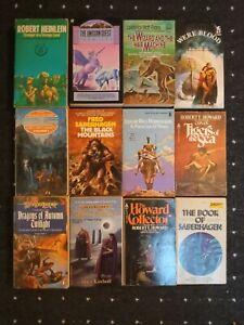 fantasy books job lot bundle including Robert E Howard, Robert Heinlein