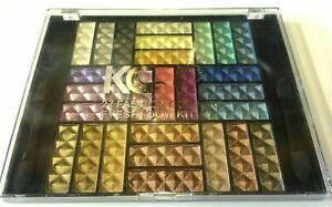 KRAZY GIRL 27 FASHION COLOURS EYESHADOW PALETTE KIT 01 & FREE EYELASHES x 1